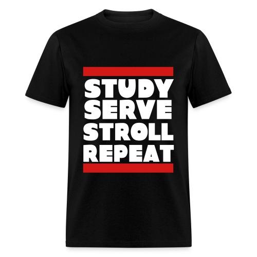 Study Serve Stroll Repeat - Men's T-Shirt