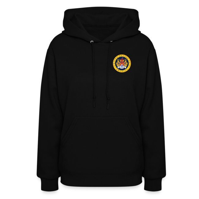 USS AMERICA CV-66 WOMEN'S HOODIE with SLEEVE TEXT