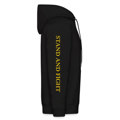 USS ANZIO CG-68 HOODIE with SLEEVE TEXT - Men's Hoodie