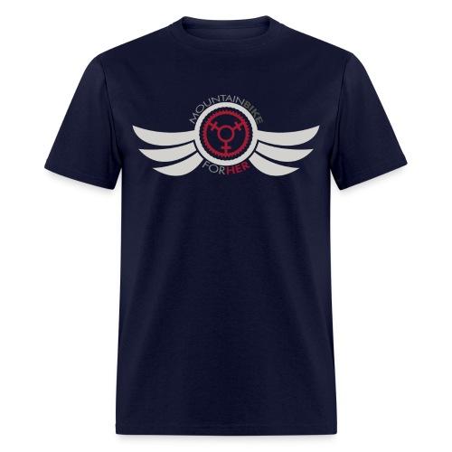 Men's Mountain Bike for Her Wing Tee - Men's T-Shirt