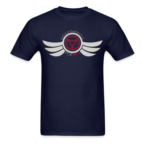 Men's Mountain Bike for Her Wing Tee - Men's T-Shirt
