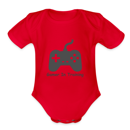 gamer in training - Organic Short Sleeve Baby Bodysuit