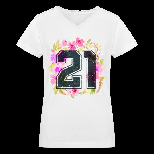finally 21 - Women's V-Neck T-Shirt
