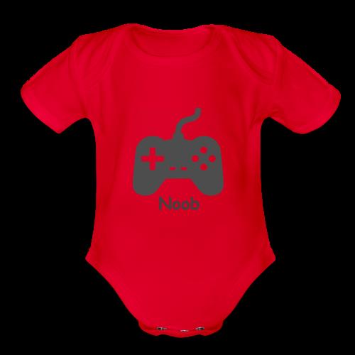 baby noob - Organic Short Sleeve Baby Bodysuit