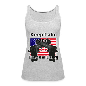 Conceal Carry Patriot - Women's Premium Tank Top