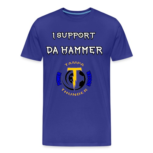 Da Hammer Support Tee - Men's Premium T-Shirt
