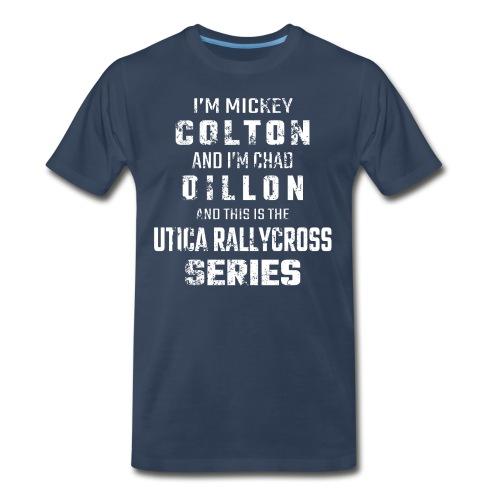 Utica Rallycross Intro Distressed T-Shirt - Men's Premium T-Shirt