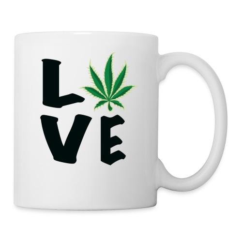 Love Marijuana Pot Leaf - Coffee/Tea Mug