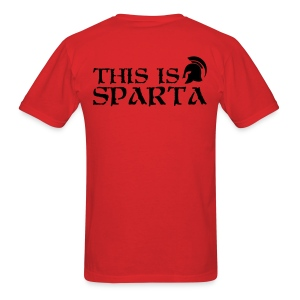 Rush Tee - This is Sparta, Black Lettering - Men's T-Shirt