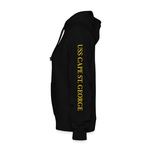USS CAPE ST GEORGE WOMEN'S HOODIE with SLEEVE TEXT - Women's Hoodie
