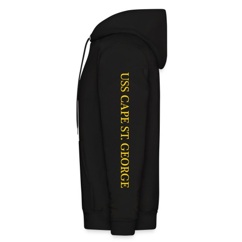USS CAPE ST GEORGE HOODIE with SLEEVE TEXT - Men's Hoodie