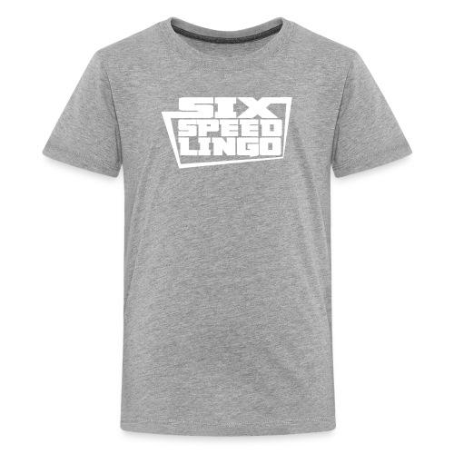 Six Speed Lingo Grey Shirt - Kids' Premium T-Shirt