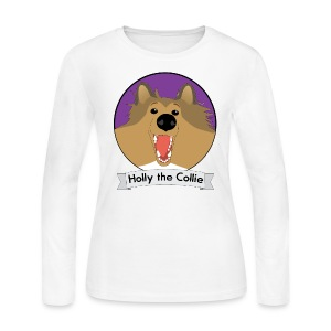 Holly the Collie Basic - Womens Long Sleeve  - Women's Long Sleeve Jersey T-Shirt