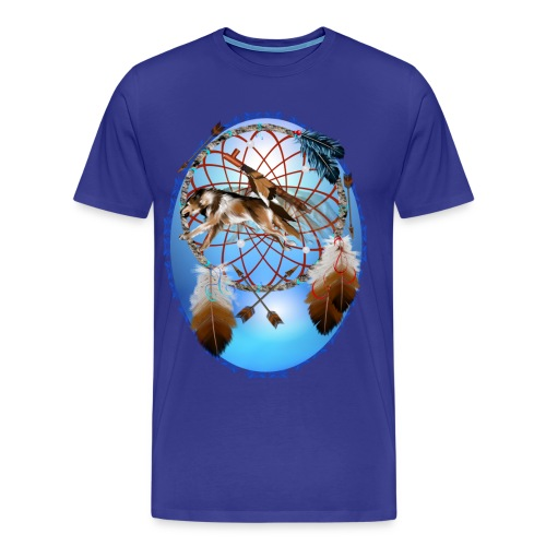 Pipe, Wolf, Arrows - Men's Premium T-Shirt