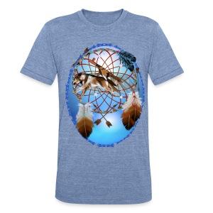 Pipe, Wolf, Arrows - Unisex Tri-Blend T-Shirt
