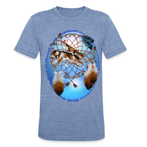 Pipe, Wolf, Arrows - Unisex Tri-Blend T-Shirt