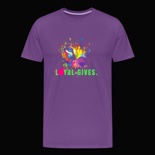 L0YaL GiVES.  HOPE - Men's Premium T-Shirt