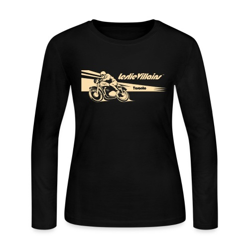 Women's Cafe Racer Long Sleeve - Women's Long Sleeve Jersey T-Shirt