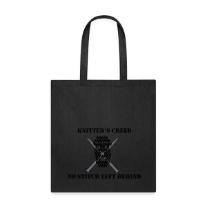 Knitter's Creed - Tote Bag