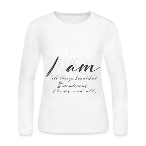 Women's Long Sleeve Jersey T-Shirt - wisdom,spiritual,spirit,soul,positive vibes,perspective,namaste,mindful,mind,love,light worker,knowledge,inner peace,imagination,higher consciousness,good vibes,free your mind,esoteric,enlightenment,energy,consciousness,change,beautiful soul,awakening,awaken