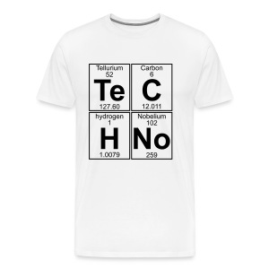 Te-C-H-No (techno) shirt - Men's Premium T-Shirt