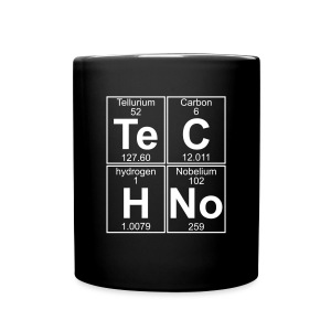 Te-C-H-No (techno) mug - Full Color Mug