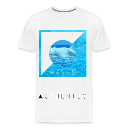 Waves - Authentic - Men's Premium T-Shirt