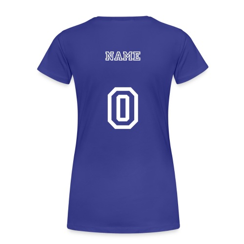 Custom Name and Number Tee - Women's Premium T-Shirt