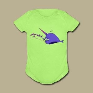 Baby Narwhal Once Piece - Short Sleeve Baby Bodysuit