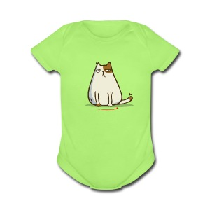 Lasercat — Friday Cat №37 - Short Sleeve Baby Bodysuit