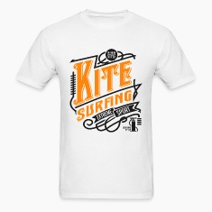 Kitesurfing Retro Black Yellow Art
