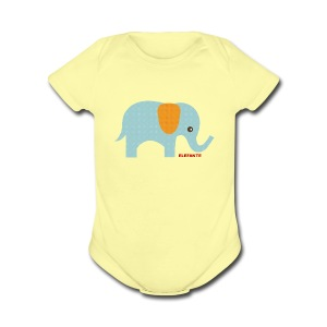 Baby Elephant One-Piece   - Short Sleeve Baby Bodysuit