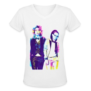 Cophine Delphine And Cosima LGBT Women's T-Shirts - Women's V-Neck T-Shirt