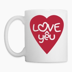 Vietnamese Valentine ♥ Love Yêu ♥ Asian Wordplay Mugs & Drinkware