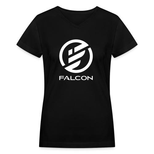 FALCON WOMENS S - Women's V-Neck T-Shirt