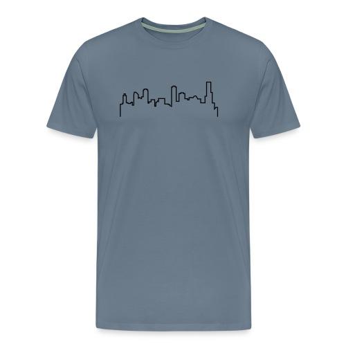Melbourne Skyline - Simple Sketch - Men's Premium T-Shirt