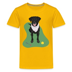 Kids' Tee | Black Lab Ball Love - Kids' Premium T-Shirt