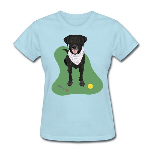 Women's Tee   Black Lab Ball Love - Women's T-Shirt