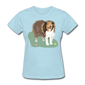 Women's Tee | Collie and Beach Friends - Women's T-Shirt