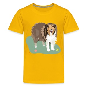 Kids' Tee | Collie and Beach Friends - Kids' Premium T-Shirt