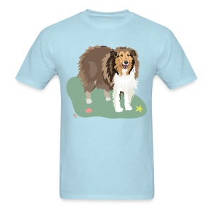 Men's Tee | Collie and Beach Friends - Men's T-Shirt