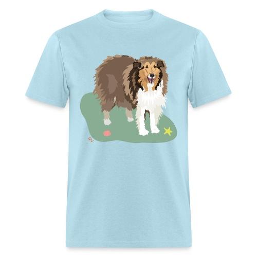 Men's Tee | Collie and Beach Friends - Men's T-Shirt