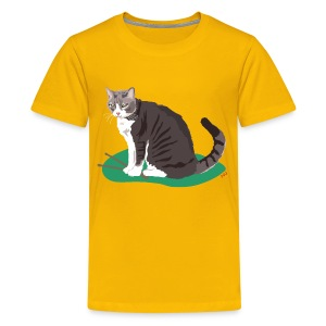 Kids' Tee | Cat Drummer - Kids' Premium T-Shirt