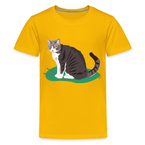 Kids' Tee | Cat Drummer - Kids' Premium T-Shirt