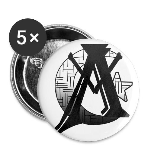 Noir Amba Button - Large Buttons