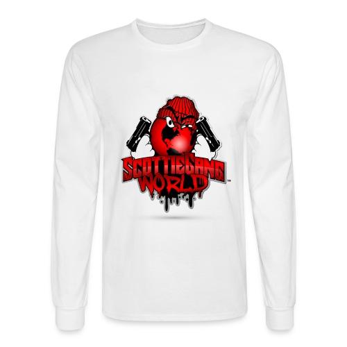 White Scottie Gang World Long Tee - Men's Long Sleeve T-Shirt