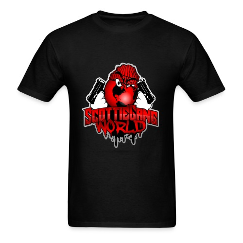 Black Scottie Gang World Tee - Men's T-Shirt