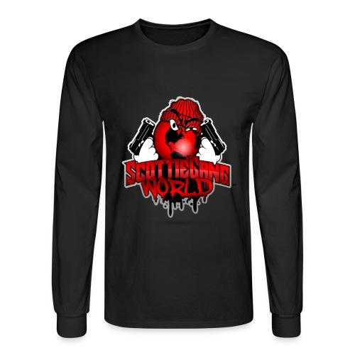 Black Scottie Gang World Long Tee - Men's Long Sleeve T-Shirt