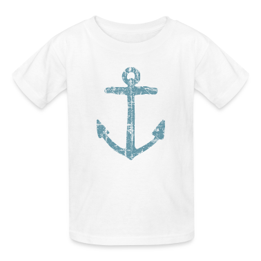 Anchor Vintage Blue Sailing Sailor Design Kids 39 Shirts T