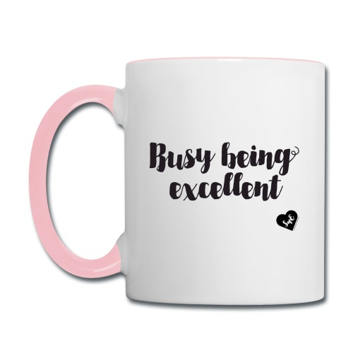 Busy Being Excellent Mug - Contrast Coffee Mug